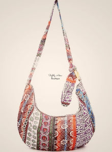 Boho Zip-up Cross-body/ Shoulder Bag