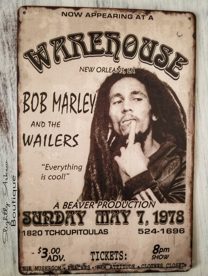 Vintage Inspired Metal Sign - Bob Marley and The Wailers