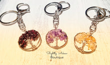 Load image into Gallery viewer, Tree of Life Keyring - Garnet