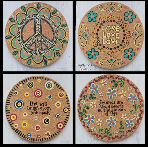 Beautiful Cork Coasters