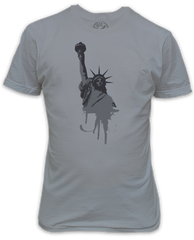 Grunge Effect Statue of Liberty