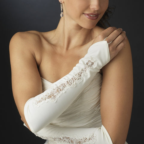 Designer Fingerless Bridal Gloves - MyGowns.com