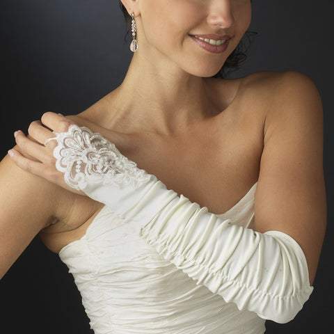 Elegant Fingerless Bridal Gloves - MyGowns.com