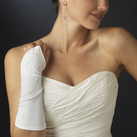 Fingerless Daisy Bridal Gloves - MyGowns.com
