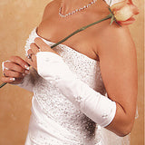 Floral Embroidery Fingerless Below-Elbow Length Bridal Gloves - MyGowns.com