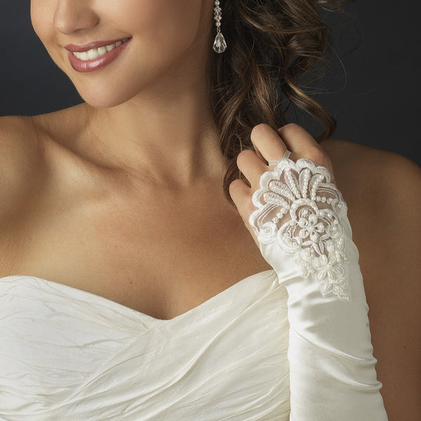 Formal Fingerless Bridal Gloves - MyGowns.com