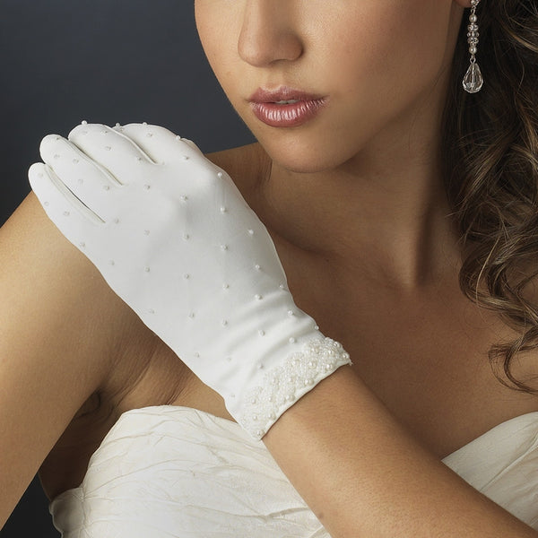 Wrist-Length Formal Bridal Gloves - MyGowns.com