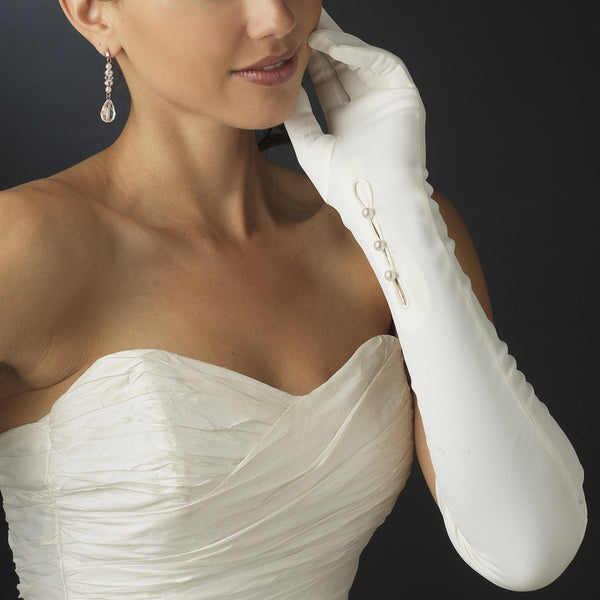Above Elbow Bridal Gloves - MyGowns.com