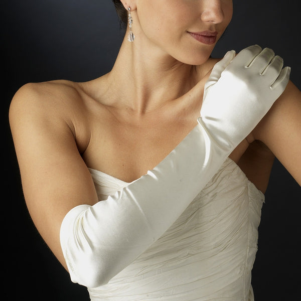 Satin Above-Elbow Bridal Gloves - MyGowns.com