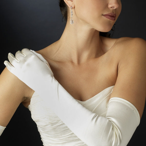 Satin Opera Length Bridal Gloves - MyGowns.com