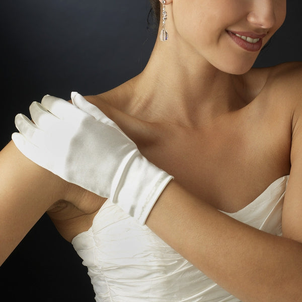 Satin Wrist-Length Bridal Gloves - MyGowns.com