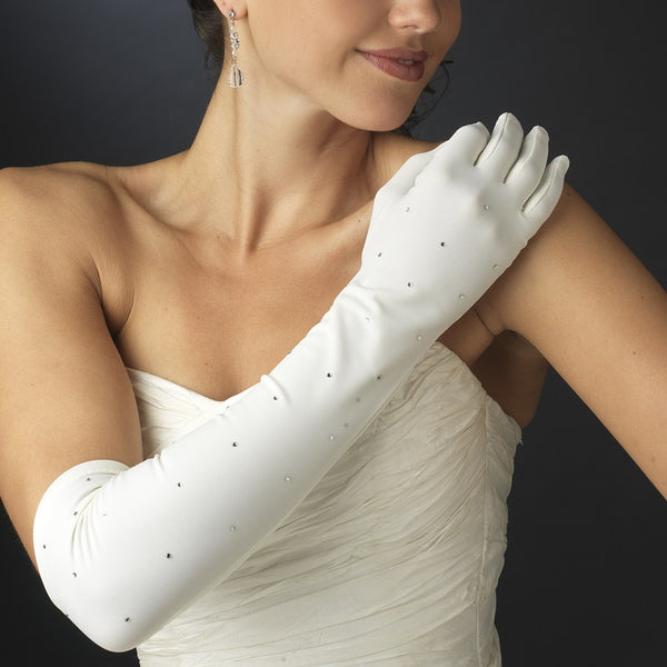 Rhinestone Bridal Gloves - MyGowns.com
