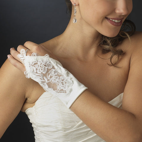 Fingerless Wrist Length Bridal Gloves - MyGowns.com