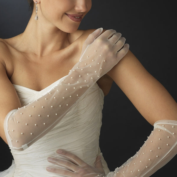 Sheer Bridal Gloves - MyGowns.com