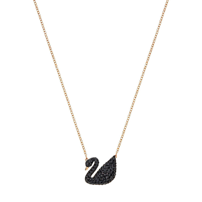 iconic-swan-pendant-black-rose-gold-plated