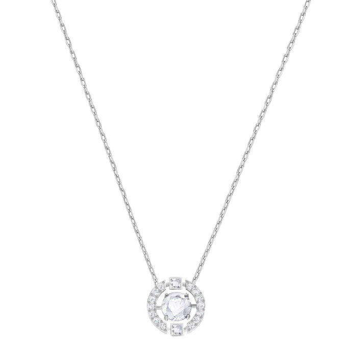 sparkling-dance-round-necklace-white-rhodium-plated