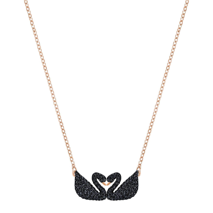 iconic-swan-double-necklace-black-rose-gold-plating