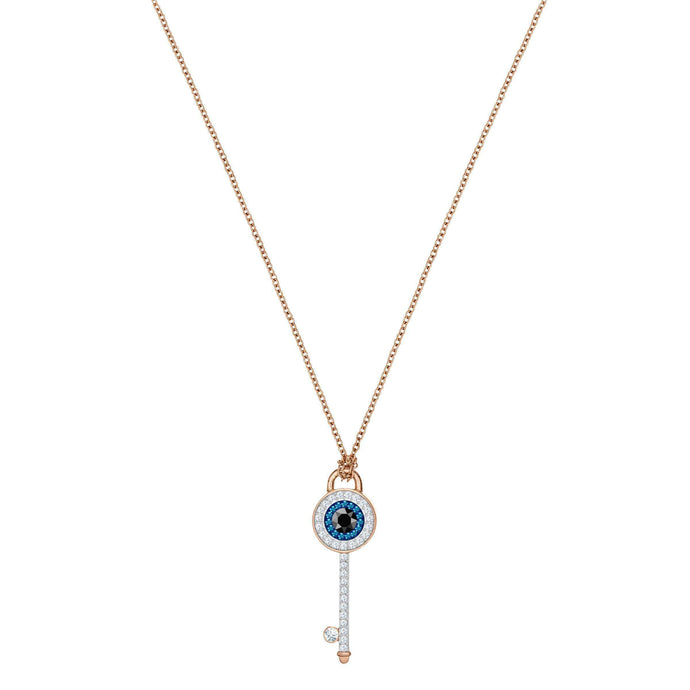 duo-evil-eye-pendant-multi-colored-rose-gold-plating