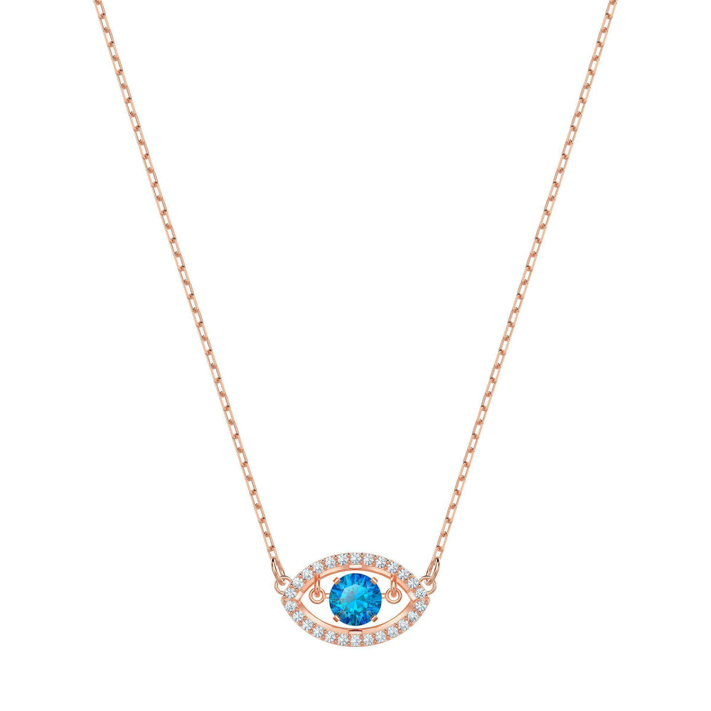 luckily-necklace-multi-colored-rose-gold-plating