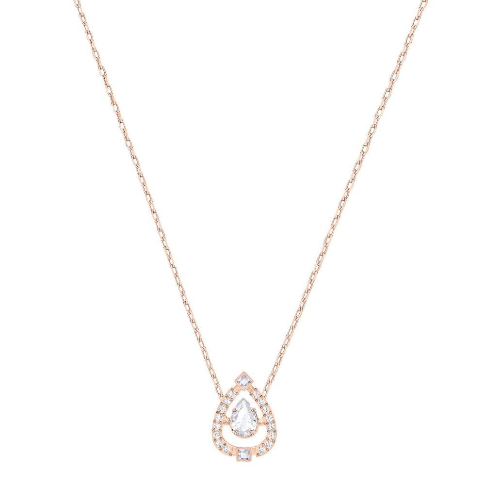 sparkling-dance-flower-necklace-white-rose-gold-plating