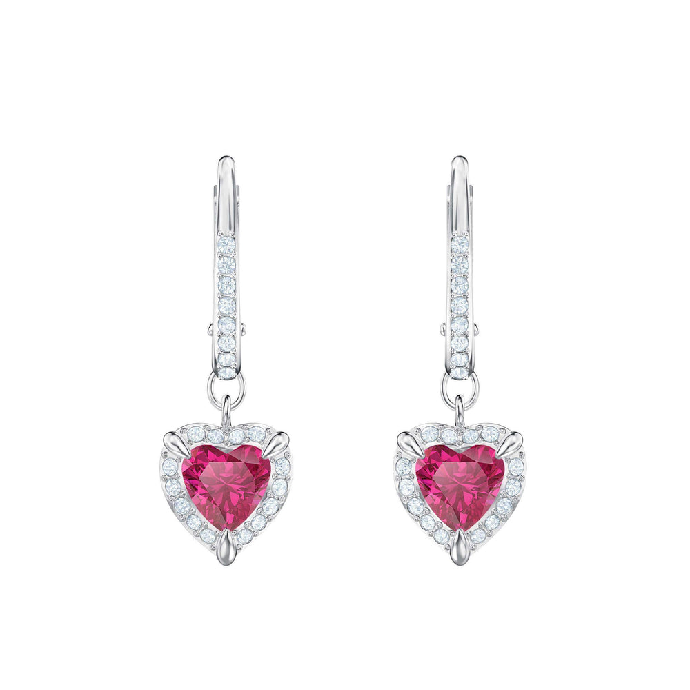 one-pierced-earrings-red-rhodium-plating
