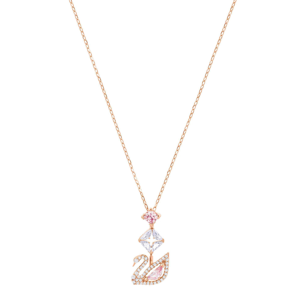 dazzling-swan-y-necklace-multi-colored-rose-gold-plating