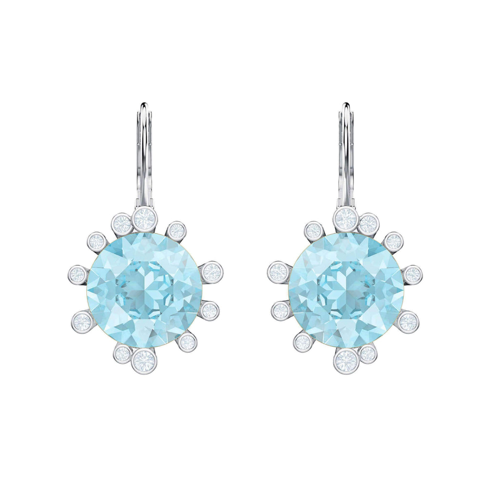 olive-pierced-earrings-aqua-rhodium-plating