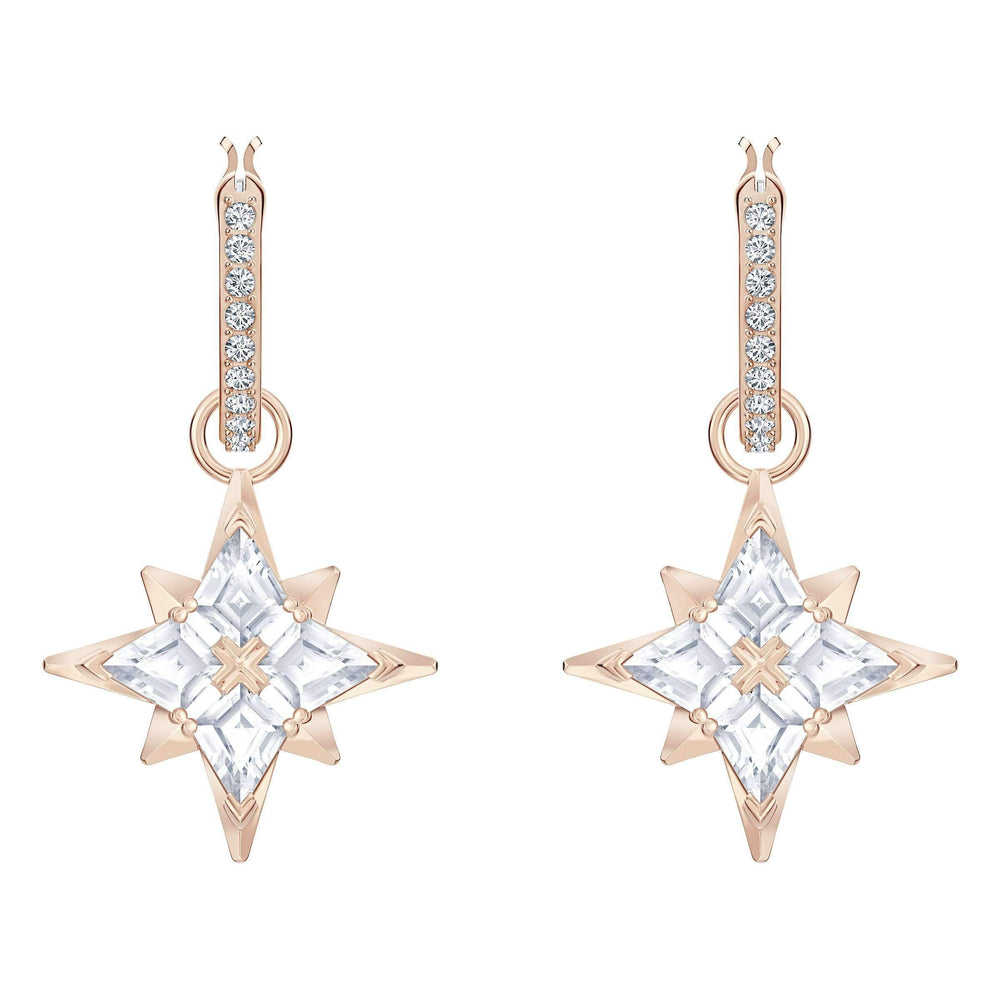 swarovski-symbolic-star-hoop-pierced-earrings-white-rose-gold-tone-plated