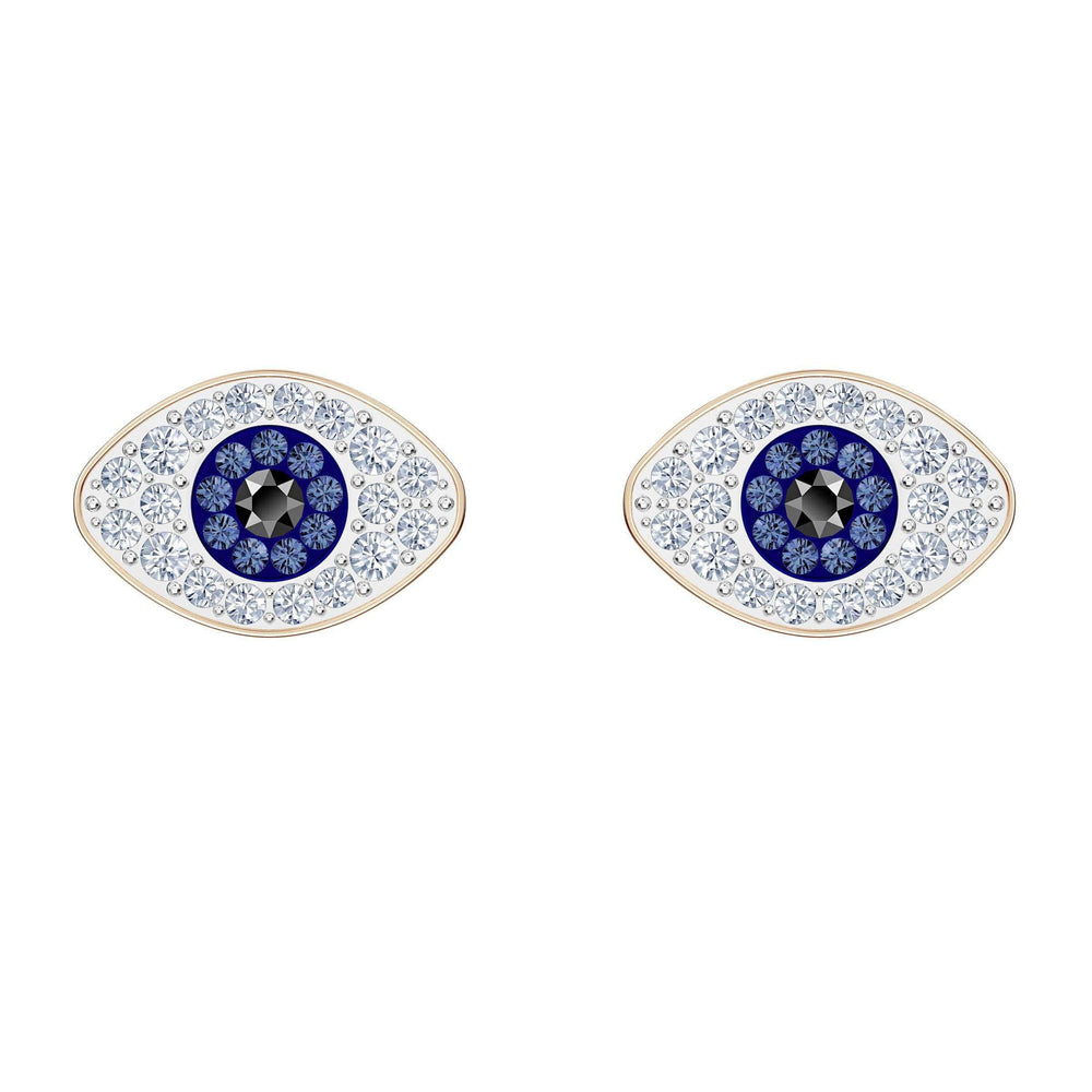 swarovski-symbolic-stud-pierced-earrings-blue-rose-gold-tone-plated