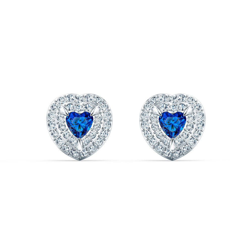 one-stud-pierced-earrings-blue-rhodium-plated