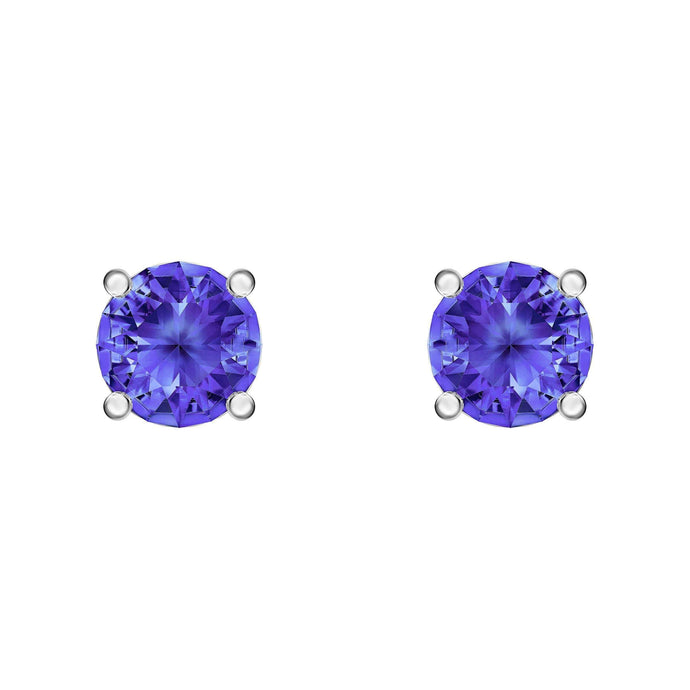 attract-stud-pierced-earrings-blue-rhodium-plated