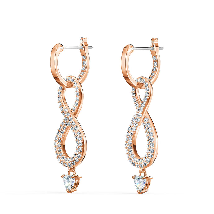 swarovski-infinity-pierced-earrings-white-rose-gold-tone-plated