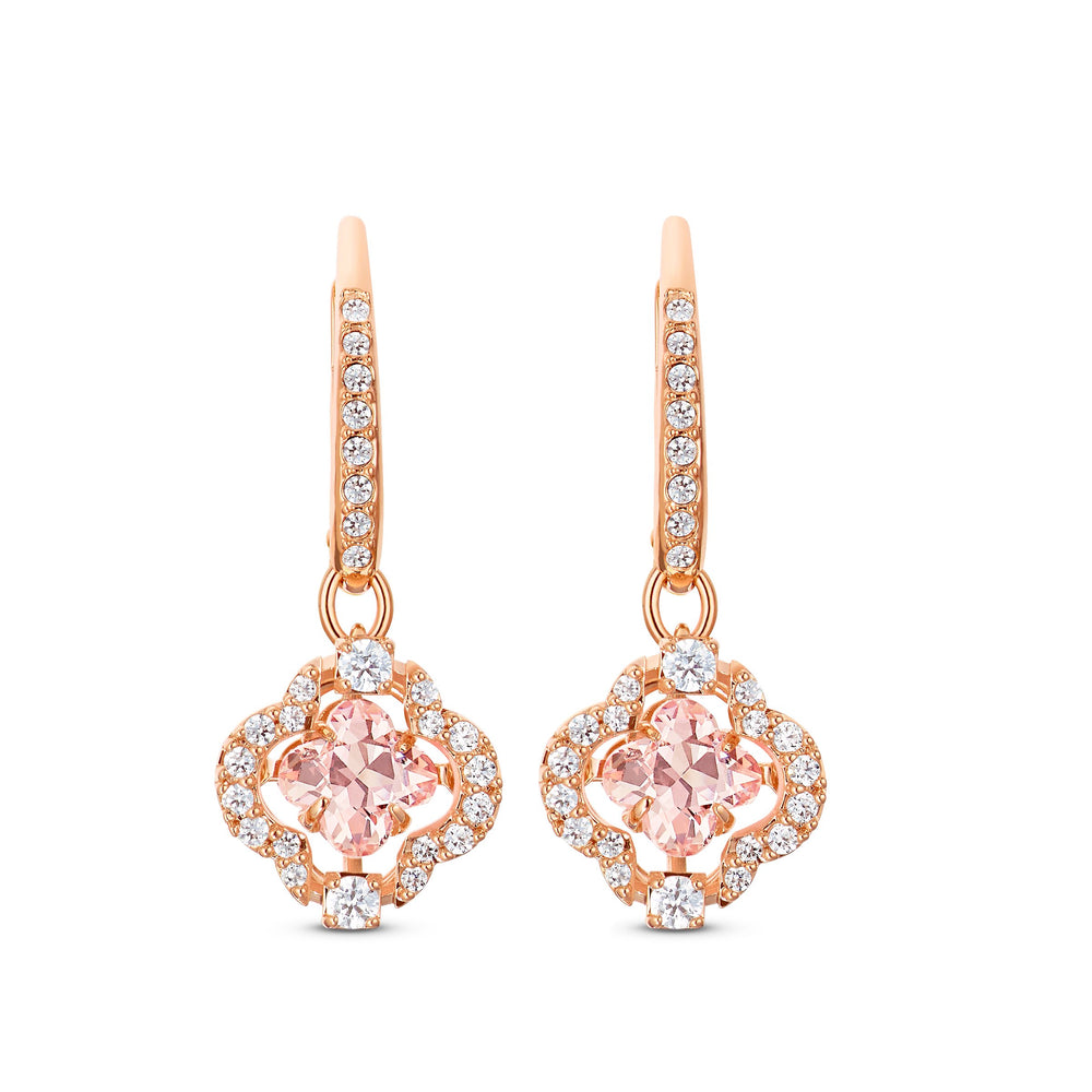 swarovski-sparkling-dance-clover-pierced-earrings-pink-rose-gold-tone-plated