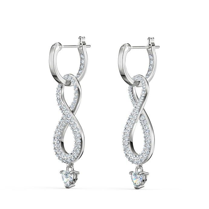 swarovski-infinity-pierced-earrings-white-rhodium-plated