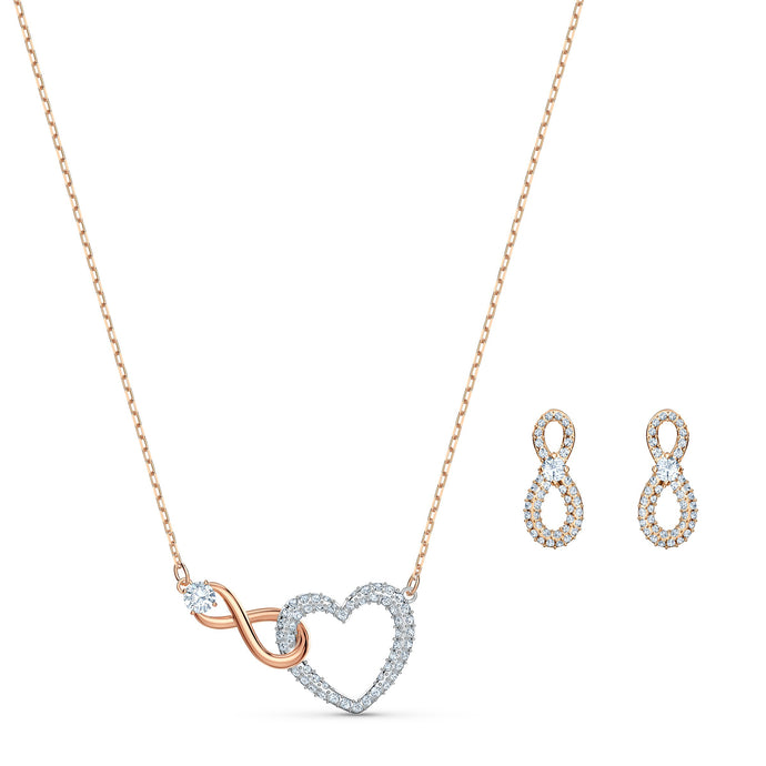 swarovski-infinity-heart-set-white-mixed-metal-finish