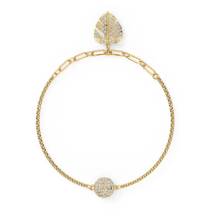 swarovski-remix-collection-tropical-leaf-strand-white-gold-tone-plated