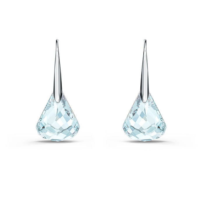 spirit-pierced-earrings-aqua-rhodium-plated