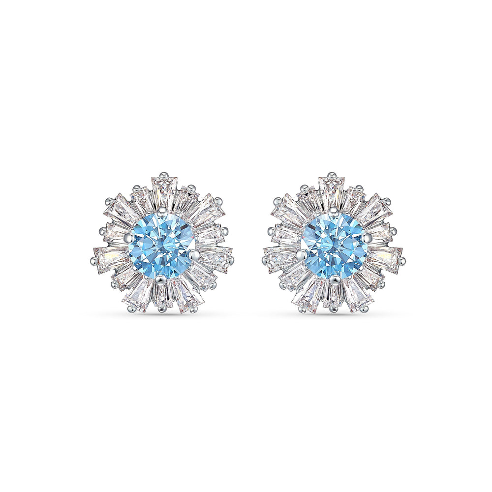 sunshine-pierced-earrings-blue-rhodium-plated