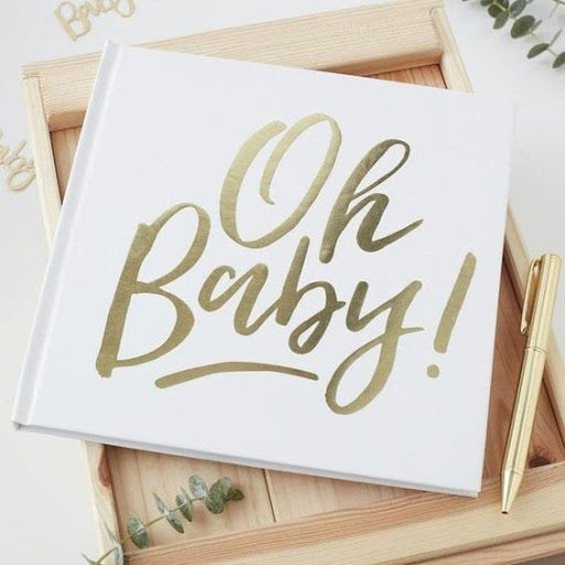 A Beautiful Expectation: White and Gold Baby Shower Ideas