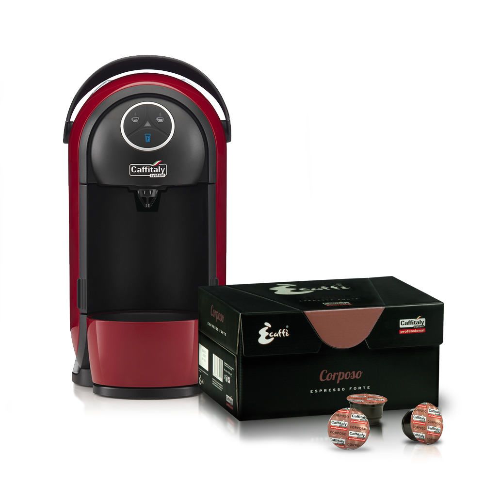 Caffitaly Clio S21 Red/Black - Free Box of 96 Ecaffe ...