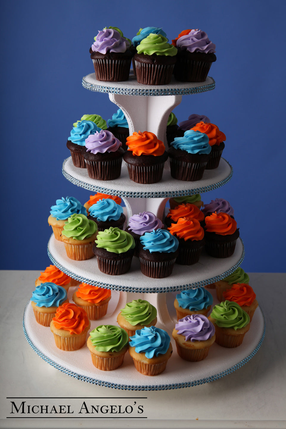 Rainbow Cupcake Tower #6Cupcake