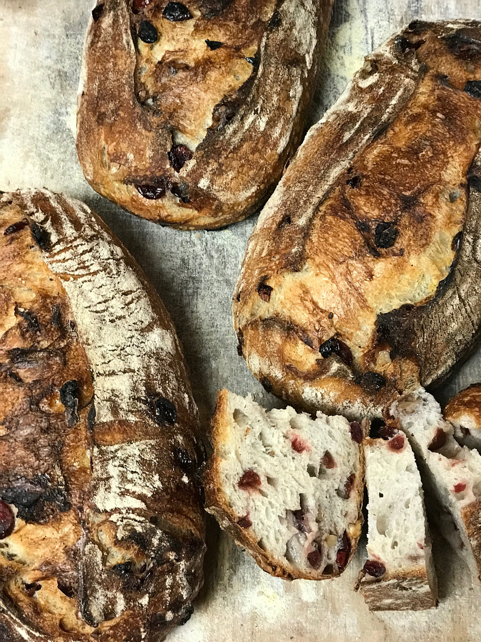 Roasted Walnut Cranberry Country Bread