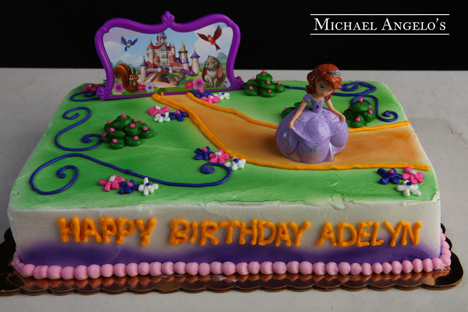 Astonishing Sofia The First Sheet Cake 196Characters Michael Angelos Funny Birthday Cards Online Overcheapnameinfo