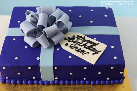 Blue with Dots Sheetcake #30Present