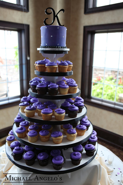Purple Tower 2cupcake Michael Angelo S Bakery