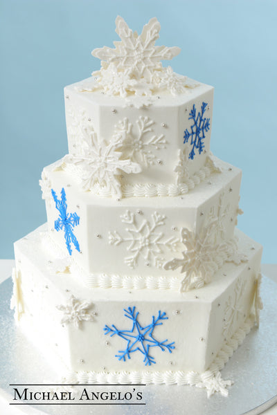 Blue & White Snowflakes #22Specialty