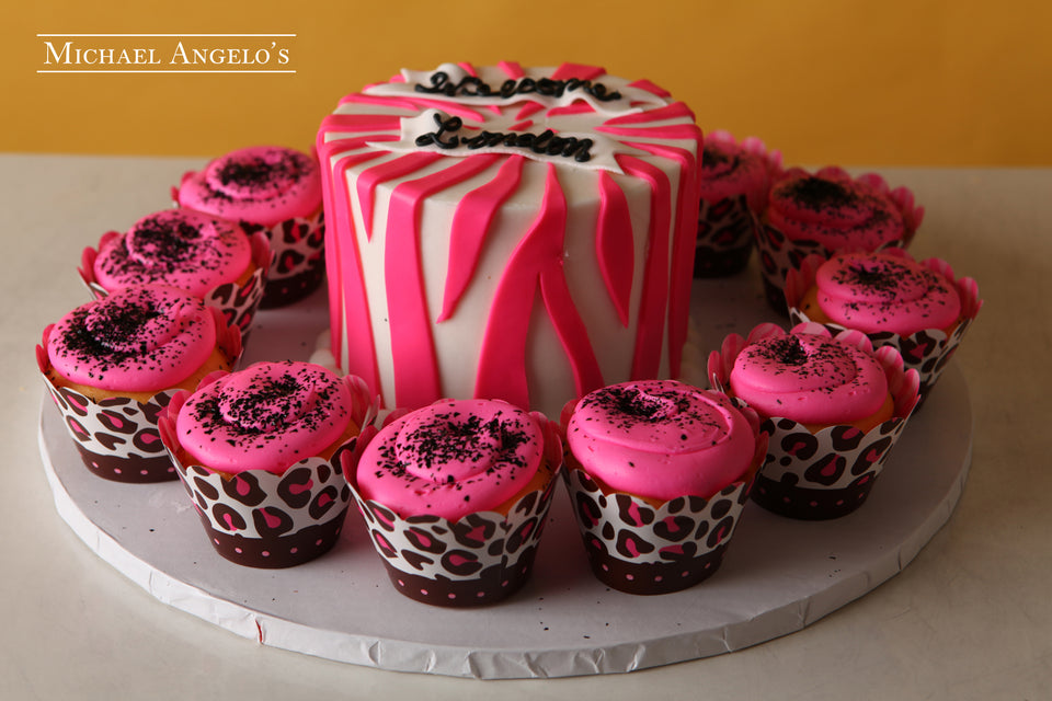 Zebra with Cupcakes #17AnimalPrint
