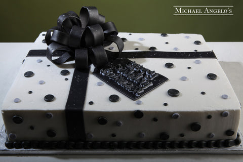 Black & White Sheetcake #35Present