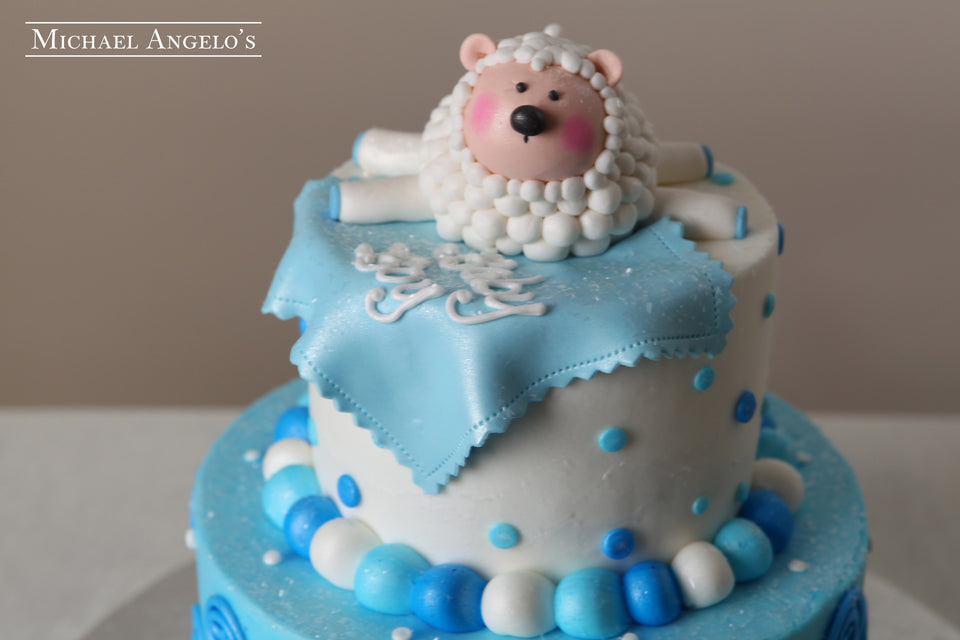 Baby Lamb with Swirls & Dots #26Baby