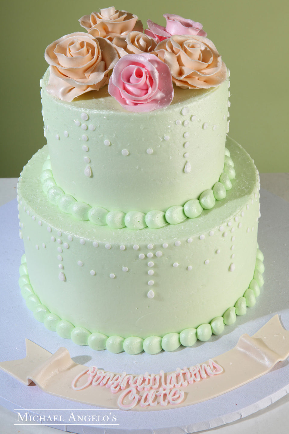 Mint Green & Flowers #71Bridal